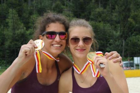 Landesmeister Beachvolleyball Weeda Krassnig und Tina Simic